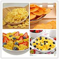 Corn flakes/ breakfast cereals processing line
