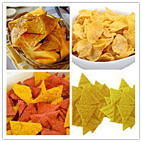 triangle chips, Doritos, Tortilla  production line